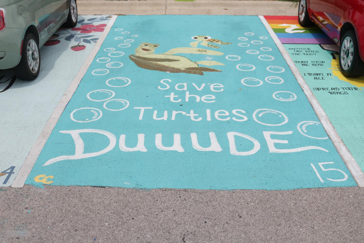 Caroline Cantrell's Save the Sea Turtles themed spot.