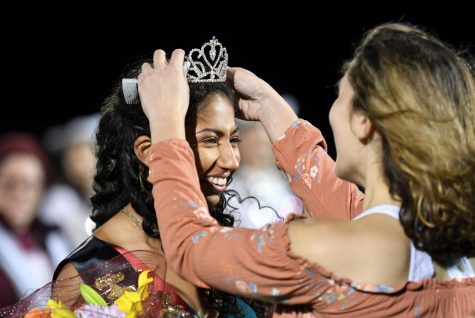 Mia Sanchez is crowned just moments after being announced as homecoming queen for Round Rock High School.